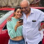 Kajal Aggarwal With Her Father