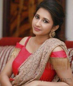 Manvitha Harish Kamath In Red Outfit