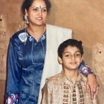 Karan Wahi Childhood Image With His Mother