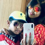 Kathi Karthika With Her Son