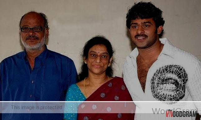 Prabhas With His Father And Mother