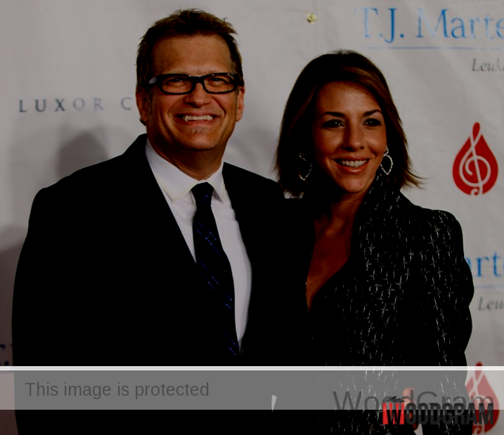 Drew Carey With His Financee
