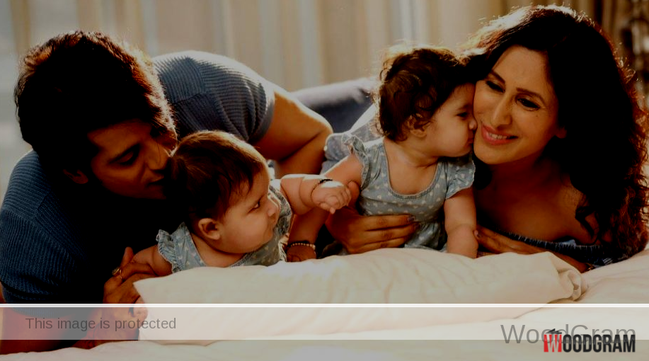 Karanvir Bohra With Wife And Cute Twins Daughters