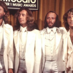 Singer Andy Gibb With Robin, Maurice And Barry The Bee Gees