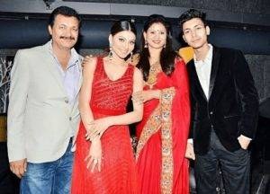 urvashi rautela with family