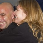Andre Agassi With Steffi Graf
