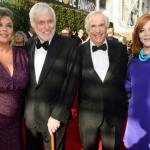 Dick Van Dyke And Henry Winkler Walk The Golden Globes Red Carpet