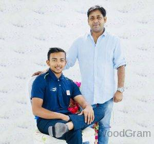 Prithvi Shaw With His Father