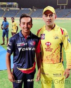 Prithvi Shaw With MS Dhoni