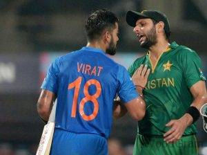 Shahid Afridi and Virat Kohli Fight
