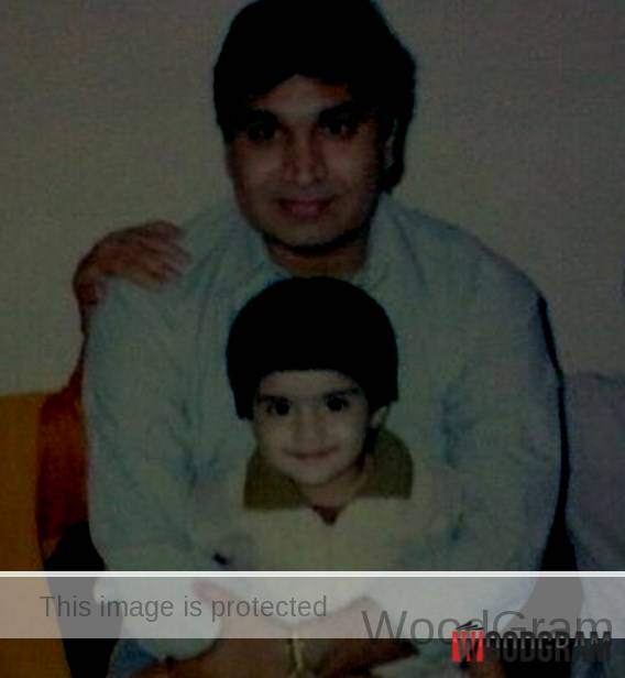 Anjali Anand Childhood Image With Her Father Late - Dinesh Anand