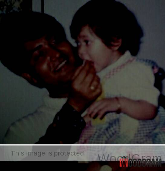 Anushka Mitra Childhood Image With Her Father