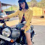 Ashnoor Kaur Riding Bike