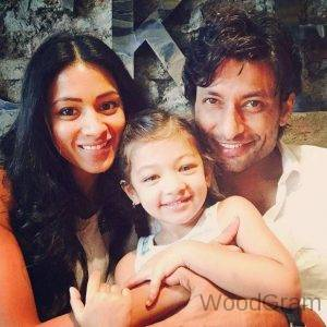 Barkha Sengupta Indraneil Sengupta With Their Daughter
