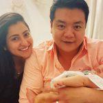 Benaf Dadachandji With Husband Norman Lou And New Born Baby Daughter