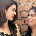 Heena Panchal With Mother