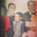 Nikhita Gandhi Childhood Image With Grandparents