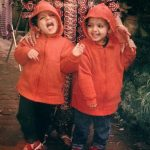 Prakriti Kakar Childhood Image With Her Twin Sister
