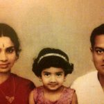 Rajeswari Yanger With Daughter And Husband K. Ayyapann