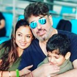 Rupali Ganguly With Husband Ashwin K Verma And Her Son