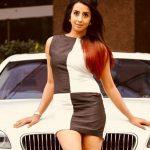 Sanjjanaa Galrani With Her Car