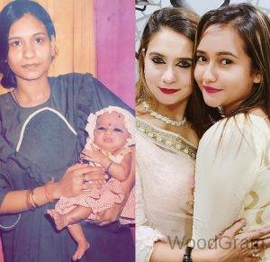 Shanaya Khan With Her Mother Childhood And Young Age Image