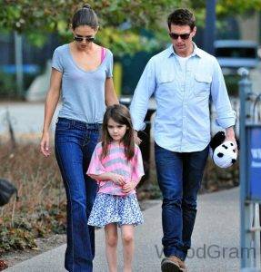 Tom Cruise with his Ex wife Katie Holmes