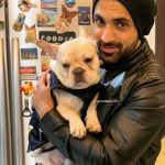 Arjit Taneja With HIs Pet Dog