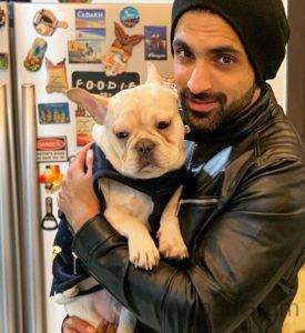 Arjit Taneja With HIs Pet Dog