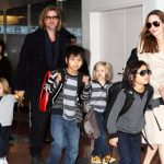 Brad Pitt And Angelina Jolie With Children