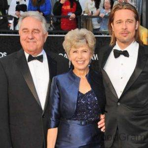 Brad Pitt With His Parents