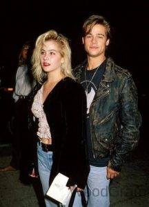 Brad Pitt with Christina Applegate