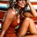 Farrah Fawcett Red Bathing Poster