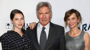 Harrison Ford With Daughter And Wife