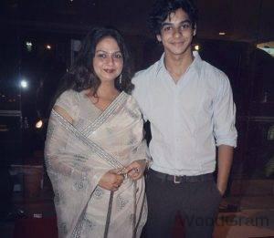 Ishaan Khattar With His Mother