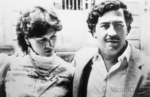 Pablo Escobar With His Wife