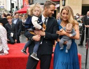 Blake Lively With Her Husband And Kids