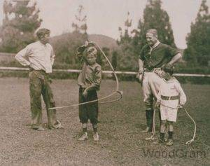 Will Rogers With His Kids
