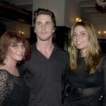 Christian Bale With His Mother And Sister