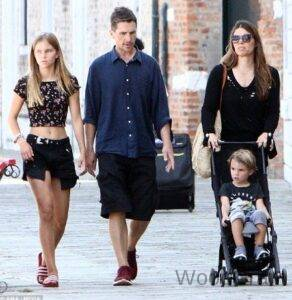 Christian Bale With His Wife, Son And Daughter