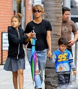 Halle Berry With Her Children