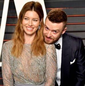 Jessica Biel With Her Husband Justin Timberlake