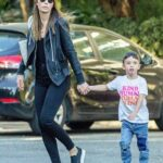 Jessica Biel With Her Son