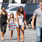 Matt Damon With His Wife And Daughters