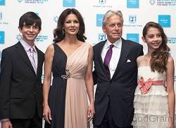 Michael Douglas With His Wife, Son And Daughter