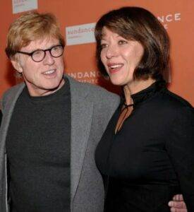 Robert Redford With His Wife