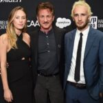 Sean Penn With His Daughter And Son