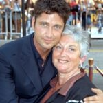 Gerard Butler With His Mother