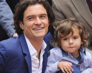 Orlando Bloom With His Son