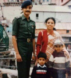 Rohit Reddy Childhood Image With His Parents